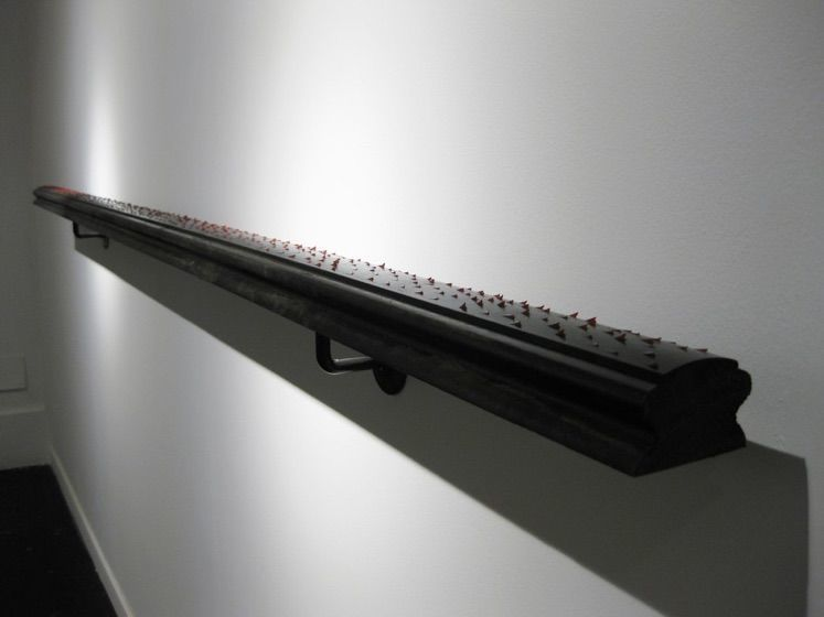 Gema Rupérez, Pasamanos, 2012, wood installation