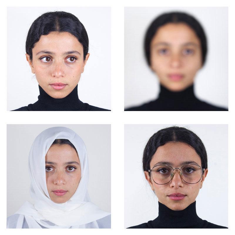 Nadia Gohar, Passport Photo (Do's & Don'ts), 2018, installation detail