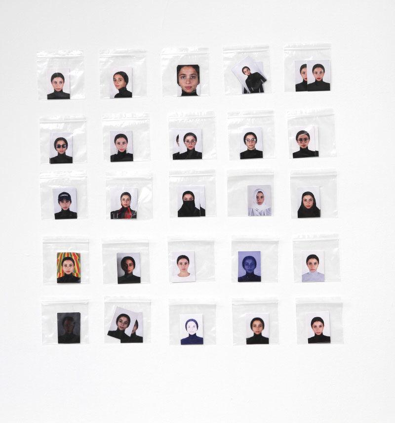 Nadia Gohar, Passport Photo (Do's & Don'ts), 2018, installation