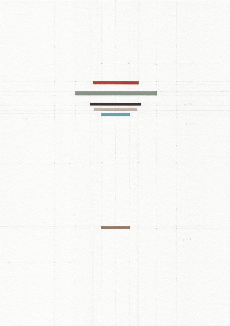 James Scott Brooks, Abridged series: Leonardo Da Vinci by Kenneth Clarke (Leonardo Da Vinci) 2016, gouache, scalpel and pencil on archival watercolour paper, 29.7 x 21 cm
