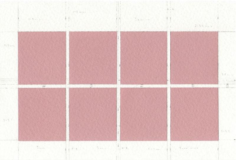 James Scott Brooks, Geometry of Travel, Graeco-Roman Postcards, 2018, gouache, scalpel, and pencil on archival watercolour paper, cm 10x15