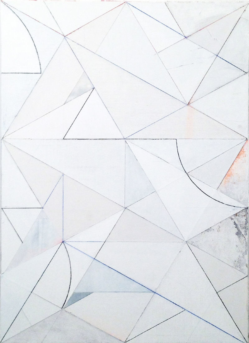 Michael Conrads, Miami Weiss, 2019, charcoal, pigments, acrylics and spray paint on mixed media, cm 170x120