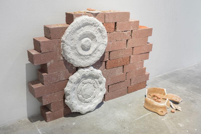 Nadia Gohar, installation detail from Foundation Deposit, 2018
