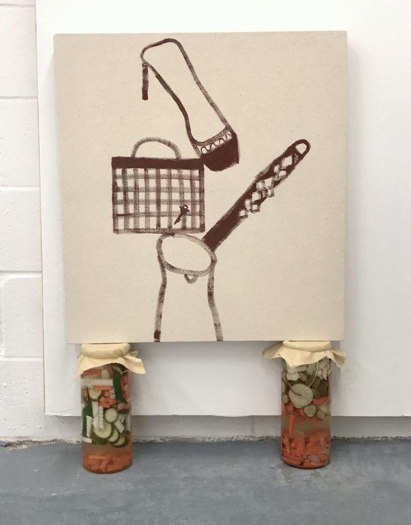 Nadia Gohar, installation detail from Trident exhibition, 2017