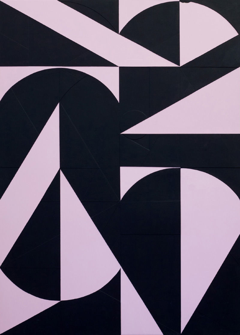 Michael Conrads, Pressure Drops_I, 2019, acrylics and canvas on canvas, 190x135 cm