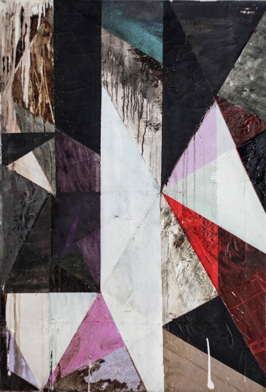 Michael Conrads, Untitled (Krisenbild), 2007, mixed media on canvas, 110x76 cm