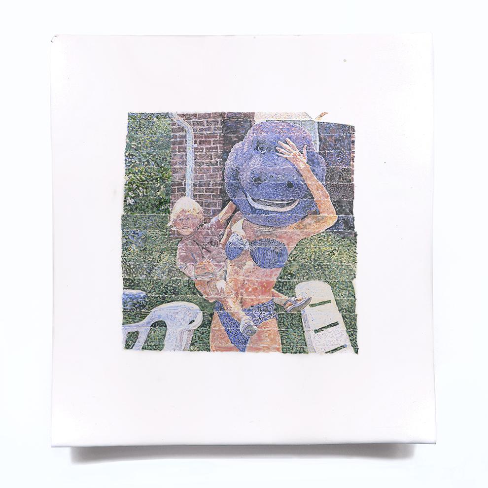 Alejandro Bombín, Antes, 2019, clay and enamels at 1050 degrees, 30x30 cm